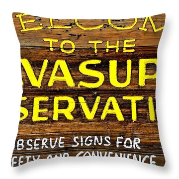 Havasupai Reservation Throw Pillow
