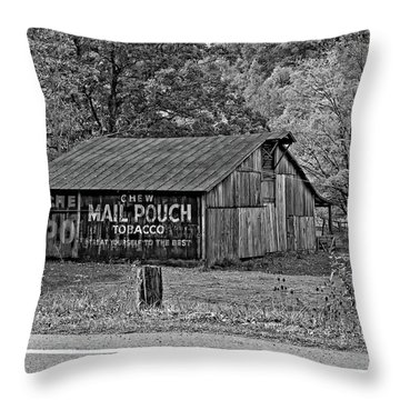 Have A Chaw Monochrome Throw Pillow by Steve Harrington