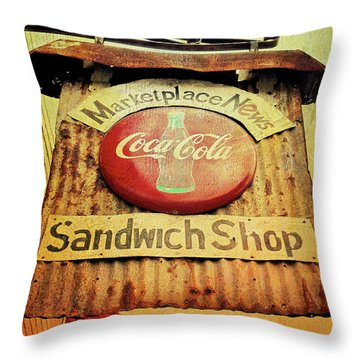 Have A Coke Throw Pillow