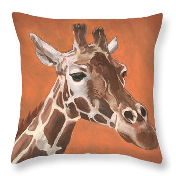 Have A Long Reach Throw Pillow by Nathan Rhoads