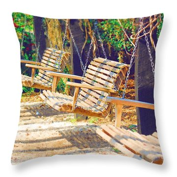 Throw Pillow featuring the photograph Have A Seat Relax by Donna Bentley