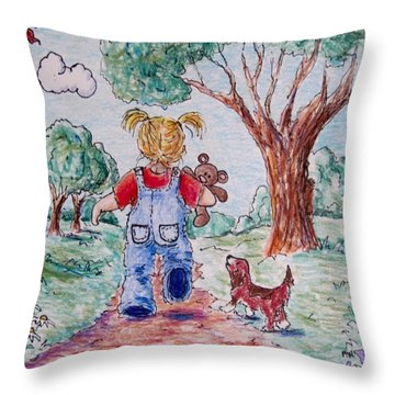 Have Bear, Will Travel Throw Pillow