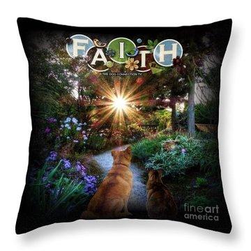 Throw Pillow featuring the digital art Have Faith by Kathy Tarochione
