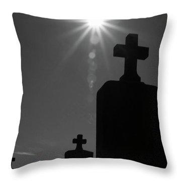 Have Faith...bw Throw Pillow by Karol Livote