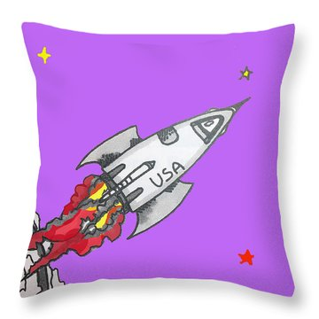 Have Spacesuit Will Travel Throw Pillow by Robert Margetts