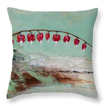 Throw Pillow featuring the painting Have We Become Comfortably Numb by Frances Marino