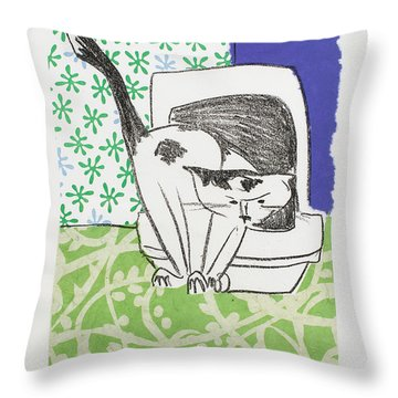 Have You Even Seen The Litter Throw Pillow by Leela Payne