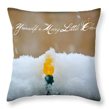 Have Yourself A Merry Little Christmas Throw Pillow by Lisa Knechtel