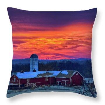 Havendale Farm Throw Pillow