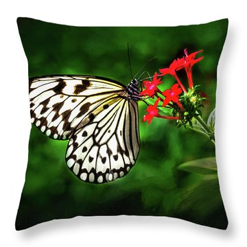 Haven't You Noticed The Butterflies? Throw Pillow