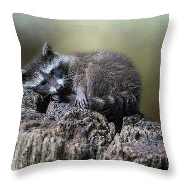 Having A Rest Throw Pillow