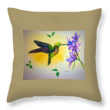 Having A Snack Throw Pillow