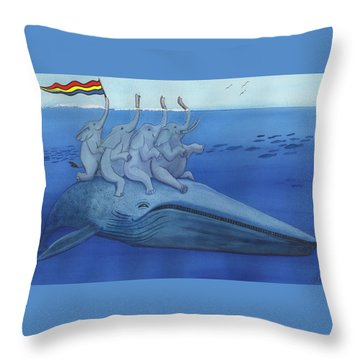 Having A Whale Of A Good Time Throw Pillow