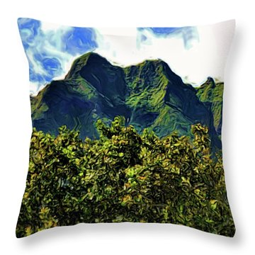 Hawaii 6 Throw Pillow