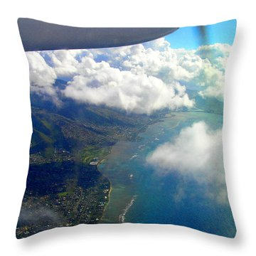 Hawaii Aerial View Throw Pillow