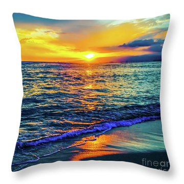 Hawaii Beach Sunset 149 Throw Pillow