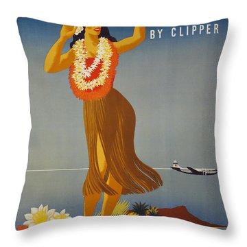 Hawaii By Clipper Throw Pillow