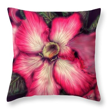 Hawaii Flower Throw Pillow by Darren Cannell