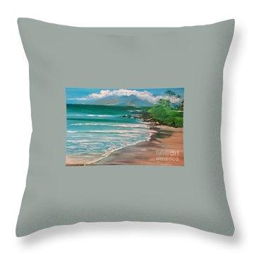Hawaii Honeymoon Throw Pillow