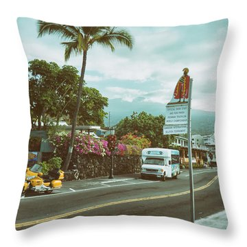 Hawaii Ironman Start Point  Throw Pillow