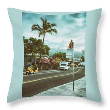 Throw Pillow featuring the photograph Hawaii Ironman Start Point  by Mary Lee Dereske