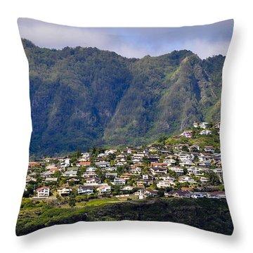 Throw Pillow featuring the photograph Hawaii Kai by Gina Savage