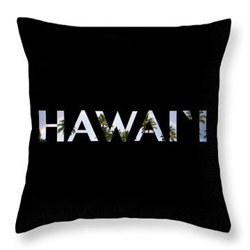Hawaii Letter Art Throw Pillow
