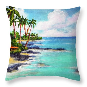 Hawaii North Shore Oahu #472 Throw Pillow by Donald k Hall