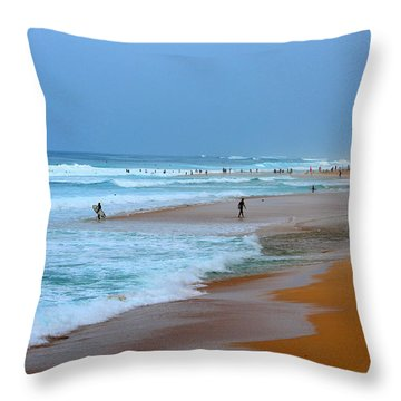 Hawaii - Sunset Beach Throw Pillow