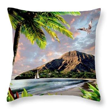 Hawaii Sunset Throw Pillow