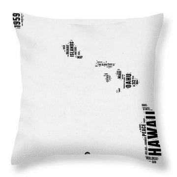 Hawaii Word Cloud 2 Throw Pillow