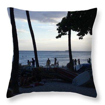 Hawaiian Afternoon Throw Pillow