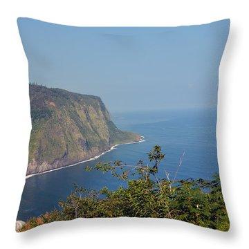 Hawaiian Beach Outlook Throw Pillow
