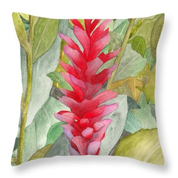 Hawaiian Beauty Throw Pillow