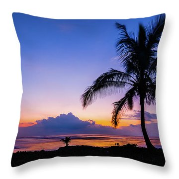 Hawaiian Dawn Colors Throw Pillow
