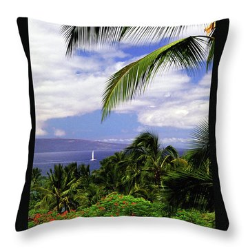Hawaiian Fantasy Throw Pillow