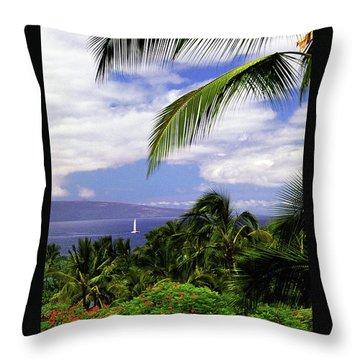 Hawaiian Fantasy Throw Pillow by Marie Hicks