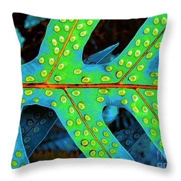 Hawaiian Fern Leaf Throw Pillow