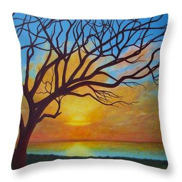 Hawaiian Hilltop Throw Pillow by JP  McKim