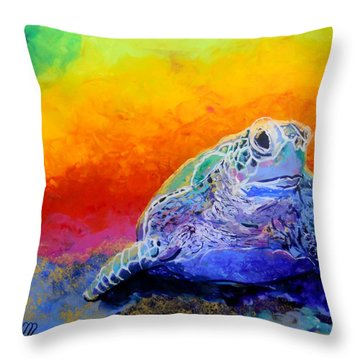 Hawaiian Honu 4 Throw Pillow by Marionette Taboniar