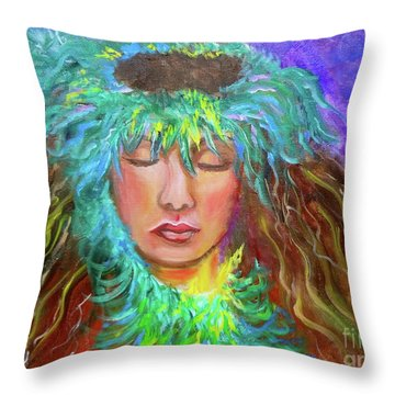 Hawaiian Hula 111 Throw Pillow
