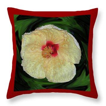 Hawaiian Hybiscus Throw Pillow