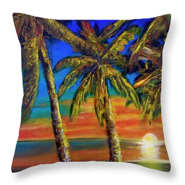 Hawaiian Moon #404 Throw Pillow by Donald k Hall