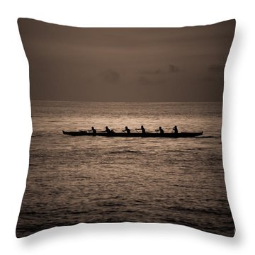 Throw Pillow featuring the photograph Hawaiian Outrigger by Kelly Wade