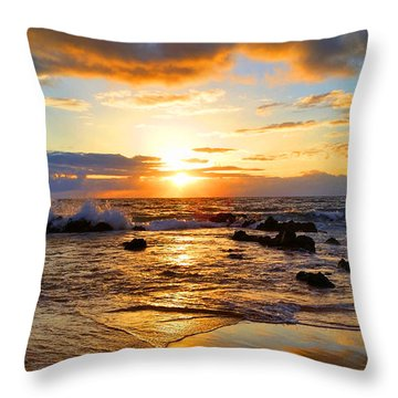 Hawaiian Paradise Throw Pillow