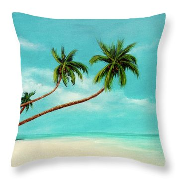 Hawaiian Prime Real Estate  #284 Throw Pillow by Donald k Hall