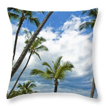 Hawaiian Shore On Maui 14 Throw Pillow