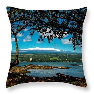 Hawaiian Snow Throw Pillow