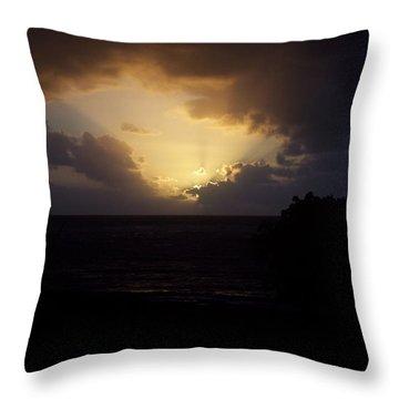 Hawaiian Sunrise Throw Pillow