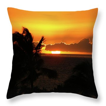 Throw Pillow featuring the photograph Hawaiian Sunset by Anthony Jones